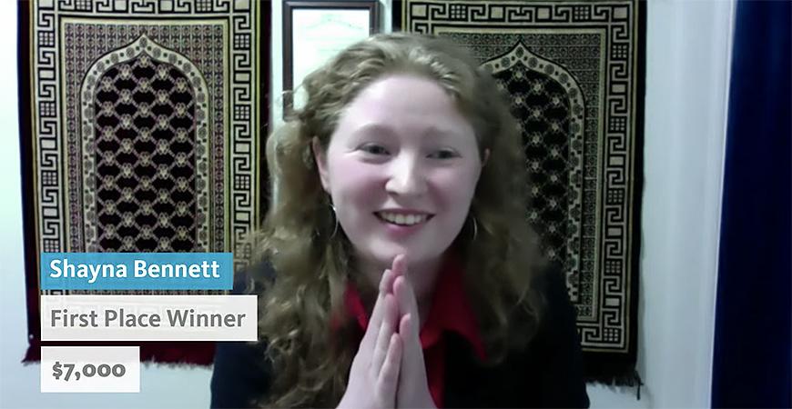 Applied Math graduate student Shayna Bennett